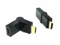 ADAPTADOR HDMI MACHO X HDMI FEMEA ARTICULADO 180°
