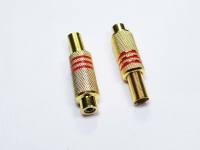 PLUG RCA FEMEA 58MM VM GOLD
