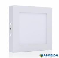 LUMINARIA LED SOBREPOR 6W 6500K BRANCO FRIO QUADRADA(EXBOM)