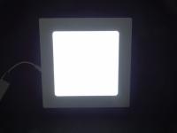 LUMINARIA LED SOBREPOR 12W BRANCA FRIA 17X17X3,6 BIVOLT
