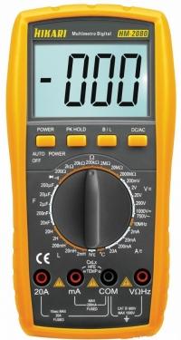 MULTIMETRO DIGITAL HM 2080 2000M/20A AC/DC (HIKARI)