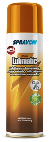 SPRAY LUBMATIC LUBR/DESENGR/REPELE UMIDADE 300ML (SPRAYON)