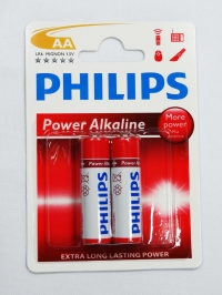 PILHA AA 1,5V POWER ALKALINE PHILIPS (CART.2PCS)