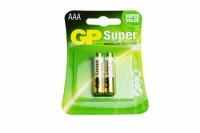 PILHA AAA 1,5V ALCALINA SUPER BLISTER 2 PCS GP