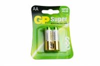 PILHA AA ALCALINA SUPER 1,5V BLISTER 2 PCS (GP)