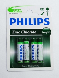 PILHA AAA 1,5V LONGLIFE PHILIPS (BL.4PCS)
