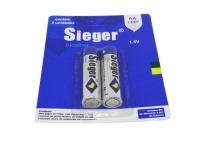 PILHA AA 1,5V ALCALINA BLISTER 2PCS (SIEGER)