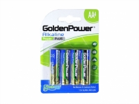 PILHA AA 1,5V ALKALINE BLISTER 4PCS (GOLDEN POWER)