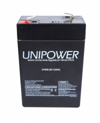 BATERIA SELADA 6V  2,8AMP.UP628 UNIPOWER