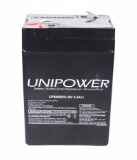 BATERIA SELADA 6V  4,5AMP.UP645SEG UNIPOWER