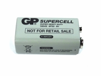 BATERIA 9V SUPER HEAVY DUTY 6F22 SUPERCELL (GP)