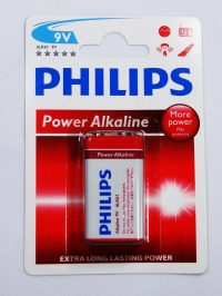 BATERIA 9V POWER ALKALINE (PHILIPS)