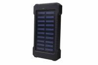 CARREGADOR PORTATIL SOLAR 8000MAH 2X USB C/ LANTERNA EXBOM
