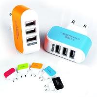 CARREGADOR USB 5V 3.1A 3 SAIDAS 1.5A LED (EXBOM)