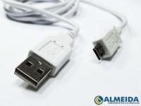 CABO USB MICRO USB BRANCO (1,00MT)