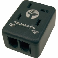 FILTRO ADSL TOMADA MACHO + FEMEA PA C/2RJ-11 (TELMAX)