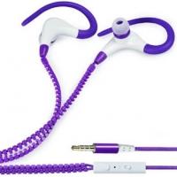 FONE DE OUVIDO ESPORTIVO ZIPER COM MICROFONE SMARTPHONE/MP3