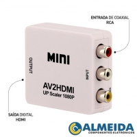 CONVERSOR RCA PARA HDMI 720P/1080P (BRANCO)