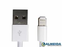CABO USB IPHONE 6S/6/5/5C IPAD 4/MINI LIGHTNING (BRANCO)