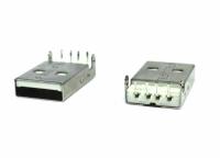 CONECTOR USB MACHO C/SUPORTE PLACA 90