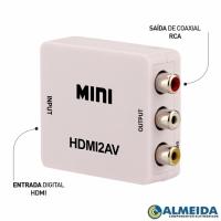 CONVERSOR HDMI PARA RCA NTSC/PAL (BRANCO)