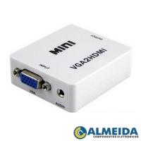 CONVERSOR VGA PARA HDMI COM SAIDA DE AUDIO (BRANCO)