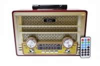 RADIO PORTATIL BLUETOOTH/FM/USB/SD/SW 4 BANDAS GOAL GL-969BT