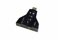 ADAPTADOR DE PLACA DE SOM USB 7.1 4 CANAIS FONE/MICROFONE
