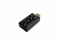 ADAPTADOR DE PLACA DE SOM USB 7.1 2 CANAIS FONE/MICROFONE